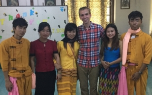 Myanmar Elliot with students