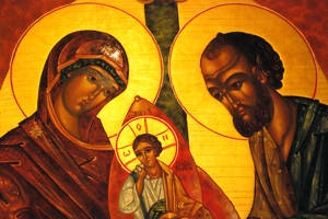 Icon of the Holy Family. Adoration Chapel, St. Thomas More Catholic Church. Decatur, GA.